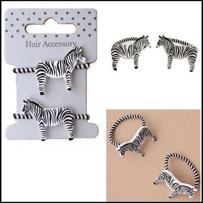 2 Elastici Per Capelli Bobbles Fasce Zebra Animal Kids Ragazza Styling Animale Motivo Ponios-mostra Il Titolo Originale Alleviare Il Caldo E Il Colpo Di Sole