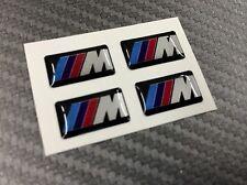 4 + 1 Adesivi Resinati Sticker 3D BMW Mtech Emblem 18 x 10 mm Whell Cerchi