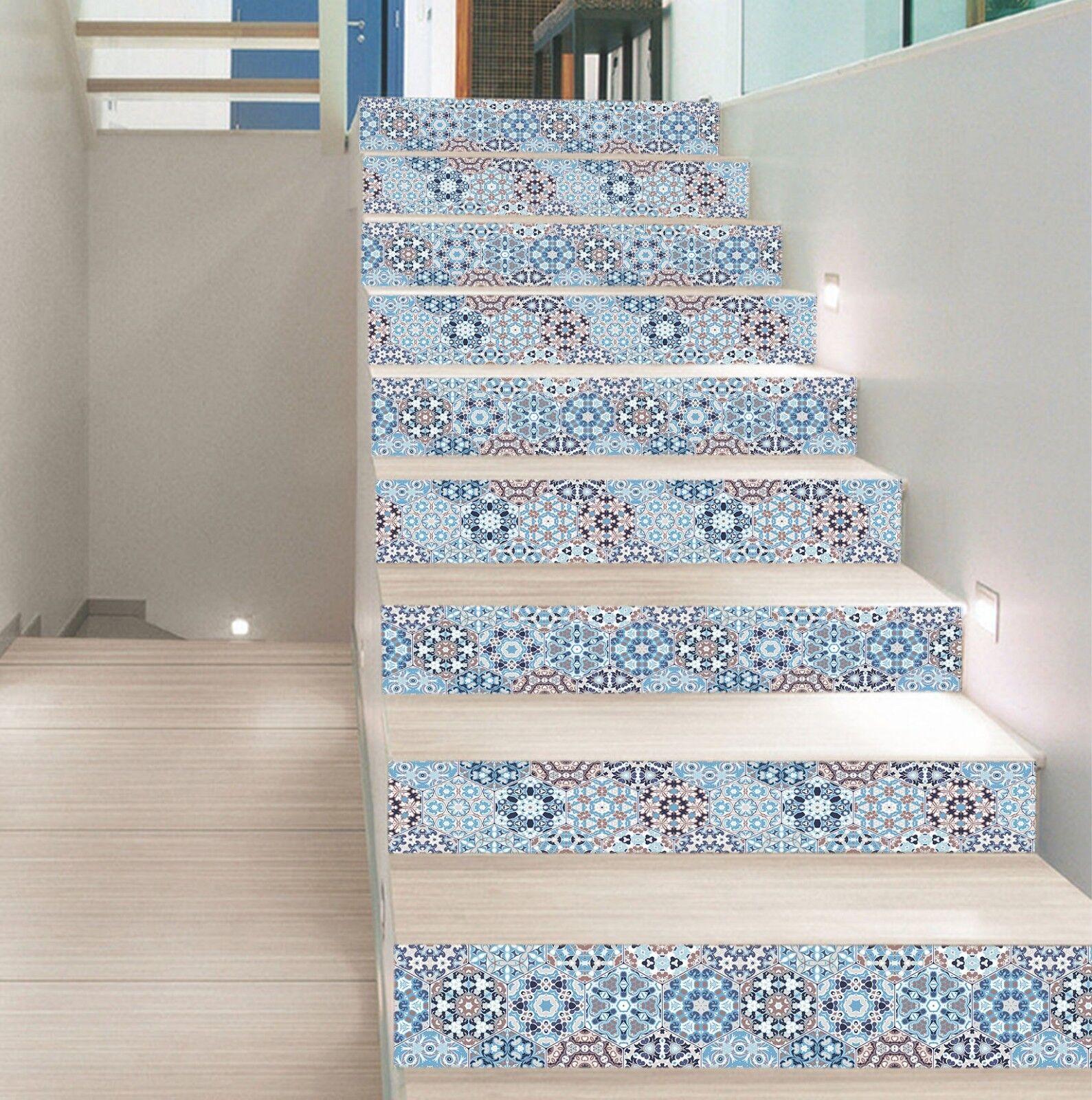 3D Hexagon Blaume 71 Fliese Marmor Stair Risers Fototapete Vinyl Aufkleber Tapete
