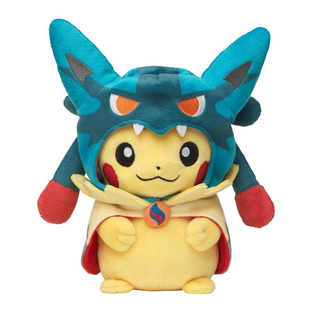 Pokemon Center Plush Doll Poncho Pikachu Mega Lucario Ver. New Japan