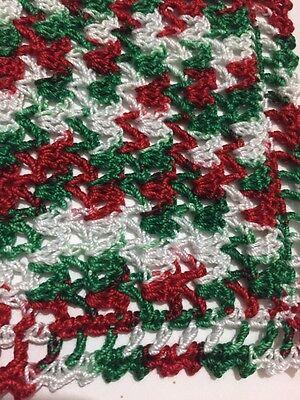 Very Merry Crocheted Miniature Dollhouse Blanket Afghan Throw