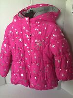 Zeroxposur Jacket Girls Size 4 Hot Pink Silver Hoodie Double Closure Puffy Warm