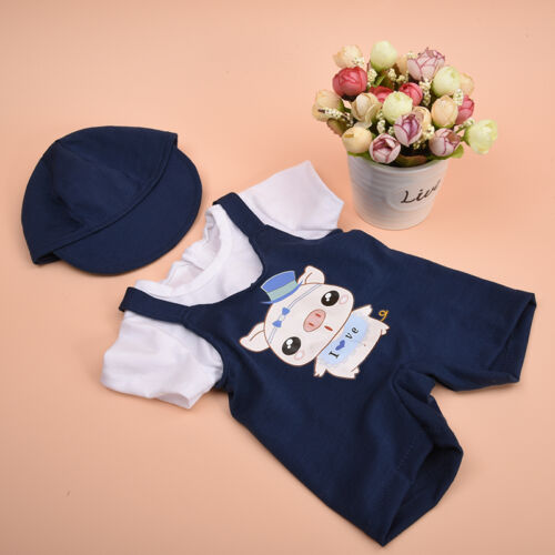 Handmade Doll Clothes Hat+T-shirt Suspenders for 18 inch  Girl Doll Hot