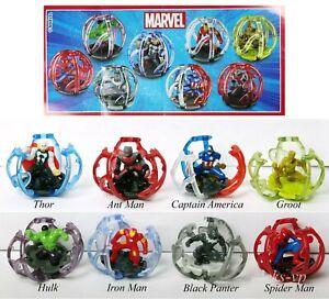 Ferrero-U-Ei-Komplett-Satz-aus-Italien-Marvel-Avengers-Endgame-OVP-8-Zetteln