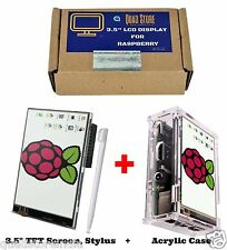"Quad Store - 3.5"" inch LCD TFT Touch Screen Display + CASE for Raspberry Pi 2/3"
