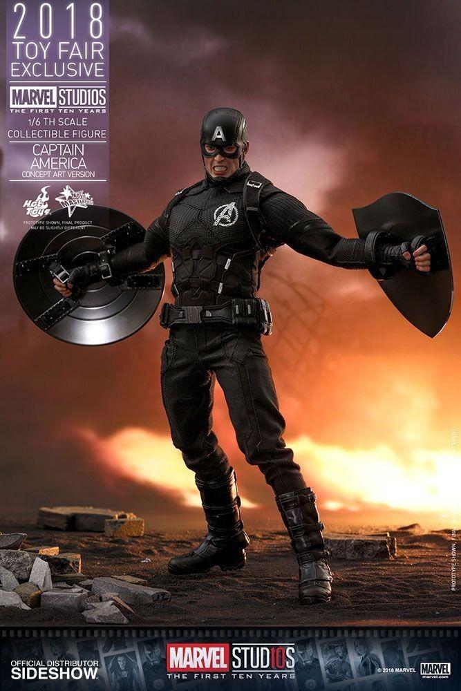 -= ] HOT TOYS - Captain America Concept Art 2018 Toy Fair Exclusive 31 cm [ =-