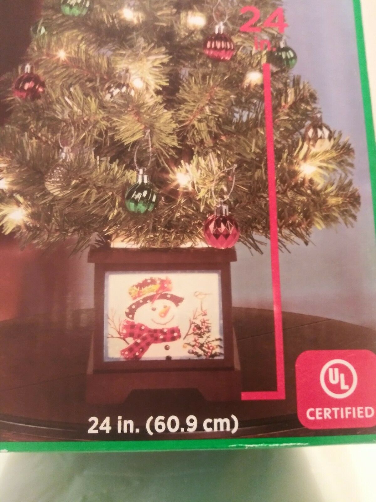 """NEW 13.5/"""" Clear Lights Crystal Lighted Christmas Tree Topper 2229520"""