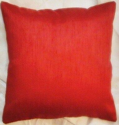 Plain hand loom raw silk cushion covers pillow case one burgundy