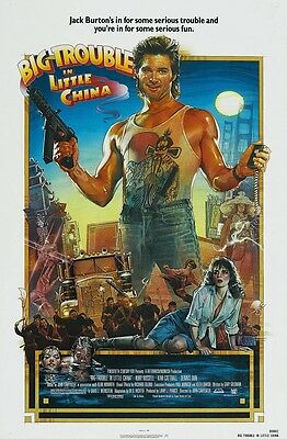 BIG TROUBLE IN LITTLE CHINA movie poster (a) KURT RUSSELL poster, KIM CATRALL