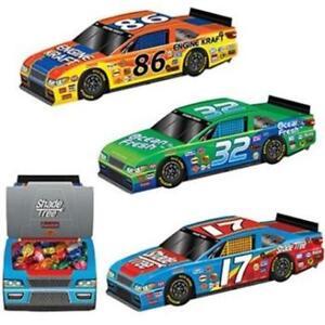 3 D Race Car Centerpieces Favor Boxes 3 Pack Car Racing Party