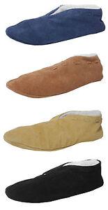 RAGAZZI-Scarpe-in-Pelle-Scamosciata-In-Finta-Pelle-Di-Pecora-Foderato-Scarpe-Pantofole-SPAGNOLO
