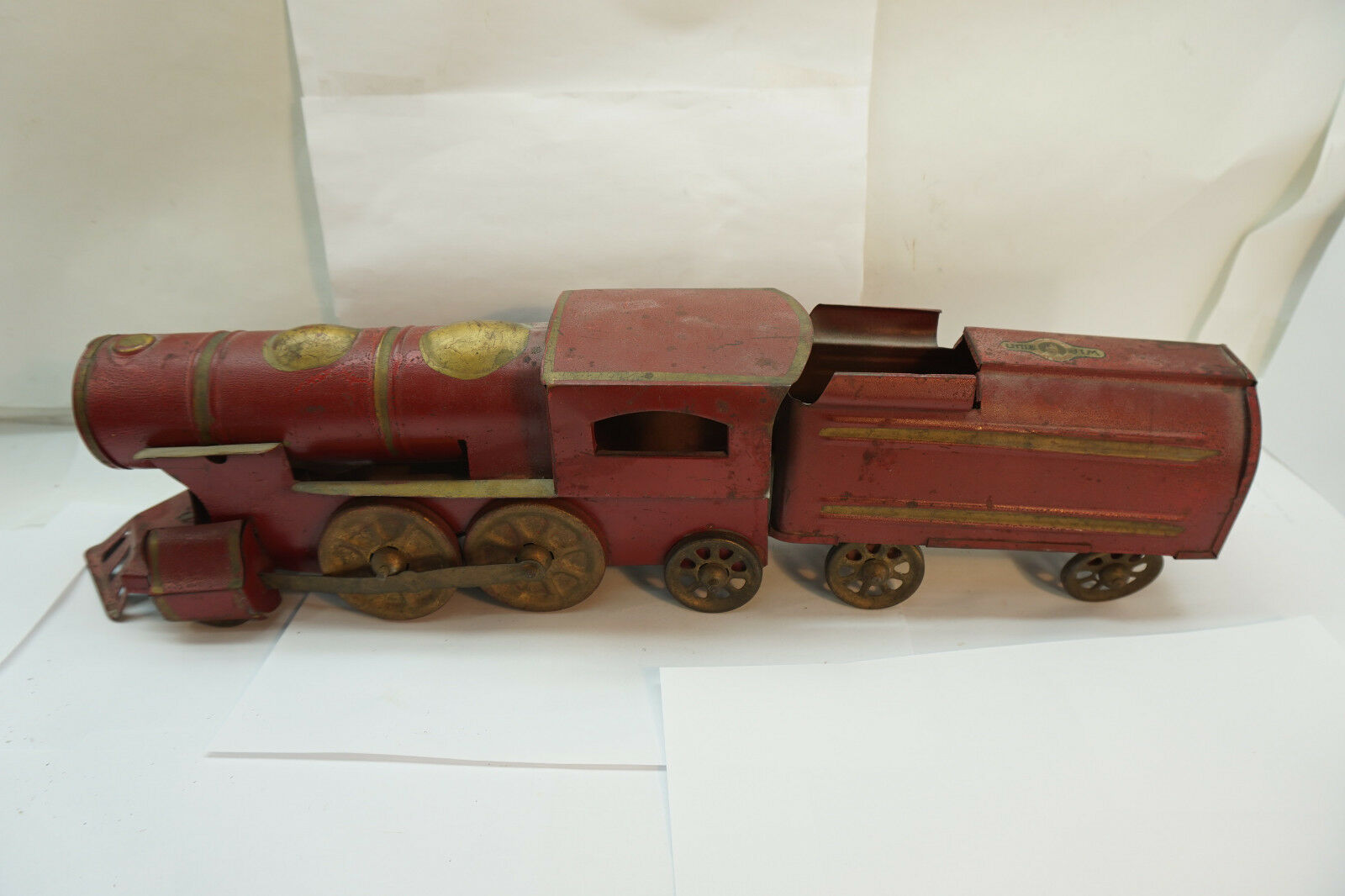 Antique Acier Pressé Jouet Train Little Jim Jc 1930s Penney Steelcraft 1930s Jc Métal 2 0a23de