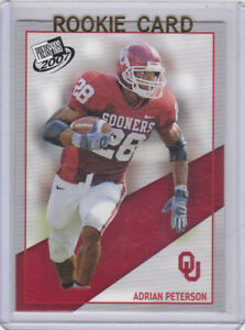 Details About Adrian Peterson Rookie Card Oklahoma Sooners 2007 Ncaa College Football Rc