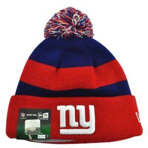 Image is loading NFL-New-York-Giants-New-Era-Knit-Beanie-