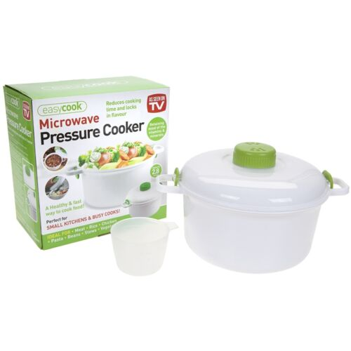 2.8L Steam Pot Turbo Microwave Pressure Cooker Steamer Rice Pasta Meat Vegetable