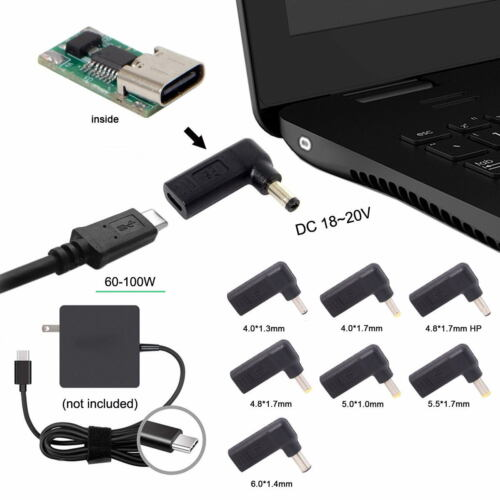 USB 3.1 Type C USB-C to DC 7.4*5mm 6*1.4mm 5.5*2.5mm 5.5*2.1mm 5.5*1.7mm Adapter