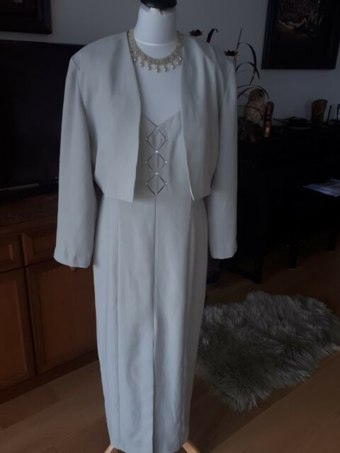 "JOSEPH RIBKOFF LONG DRESS & JACKET holiday & cruise size 14 ""excellent """