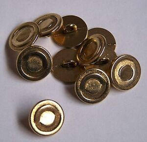 8pc 15mm Antique Brass Gold Metal Blazer Coat Cardigan Knitwear Button 3711