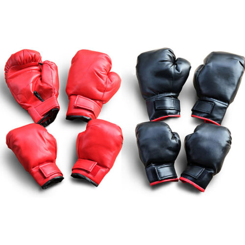 Pro PU Leather Boxing Gloves MMA Sparring Punch Glove Muay Thai Training Gloves
