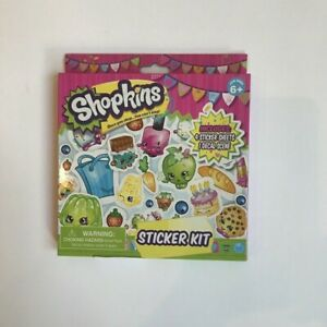 Shopkins Sticker Set Over 100 Stickers and 1 Decal Scene NWT Retail: 7.99 NEW