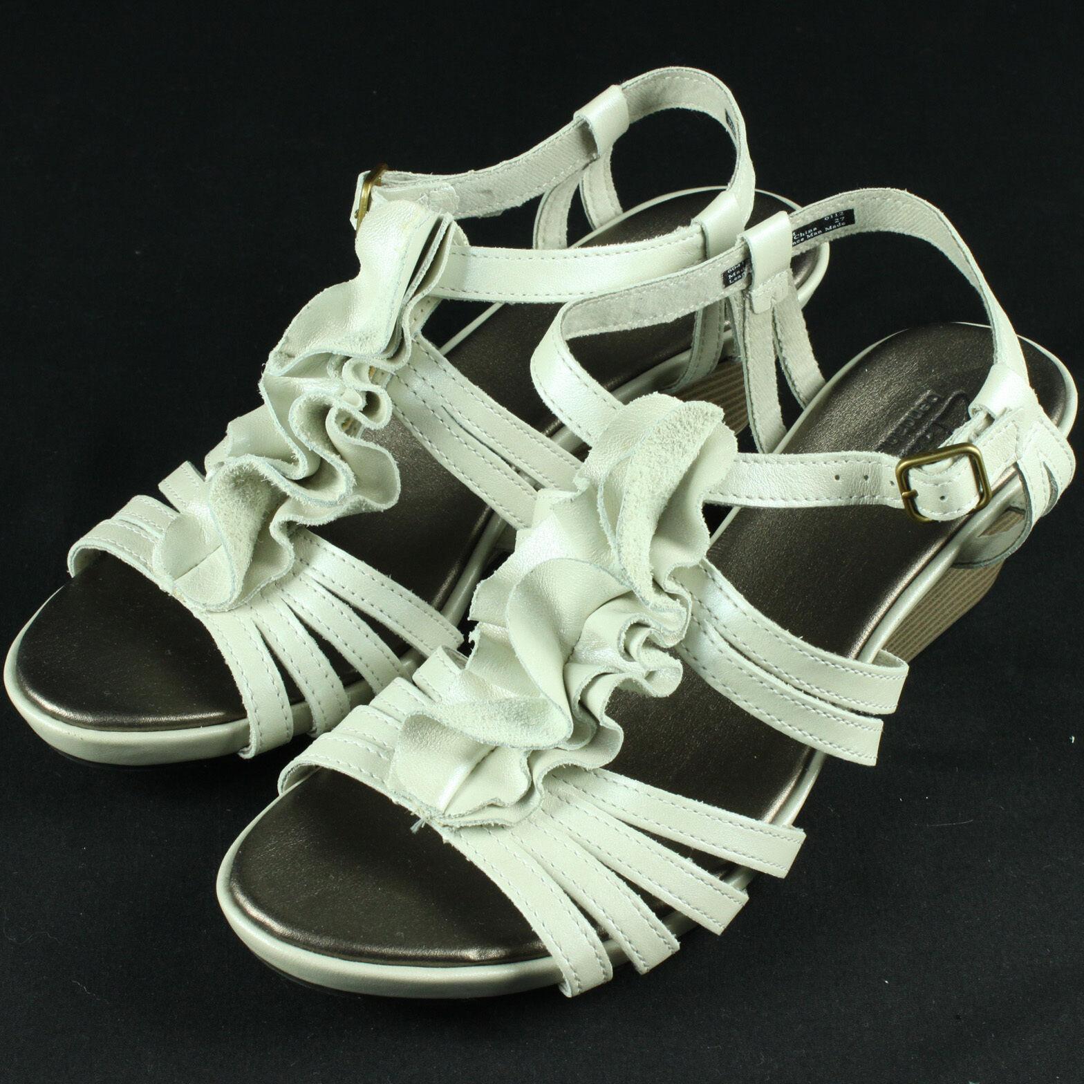 Clarks Lucia Resort Wedge Sandals 10 Heels chaussures Comfortable 10M 2 Inch Sandles