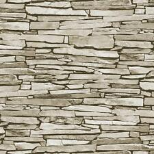 DEBONA SLATE PATTERN REALISTIC FAUX EFFECT STONE PHOTO WALLPAPER ROLL
