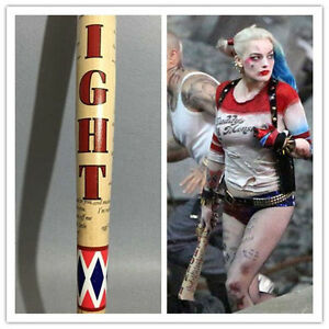 "2016 34"" Harley Quinn Batman Suicide Squad Wooden Baseball bat Halloween Cosplay"