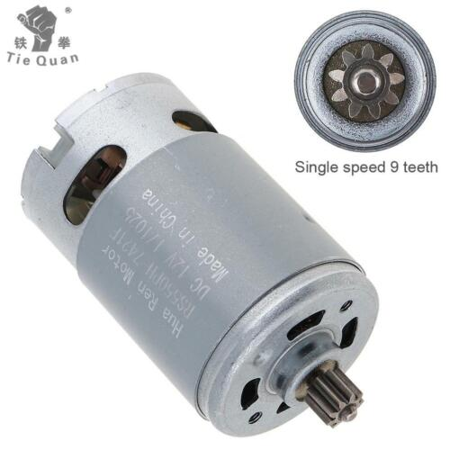 DC 12V 9 Teeth Shank Gear Motor Replacement for Rechargeable Electric Drill