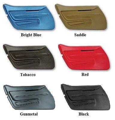 1968 Corvette Basic Door Panels Pair New In Factory Colors Ebay