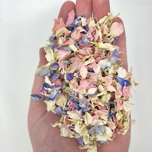 Biodegradable-WEDDING-CONFETTI-Delphinium-Real-Dry-Petals-Flutterfall-7-handfuls