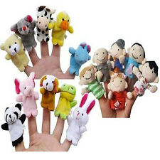 10PCS Soft Finger Cloth Puppets Baby Plush Animal Hand Educational Toy