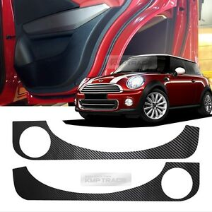 carbon door decal sticker cover kick protector for bmw 01 06 mini cooper r50 r53 ebay. Black Bedroom Furniture Sets. Home Design Ideas