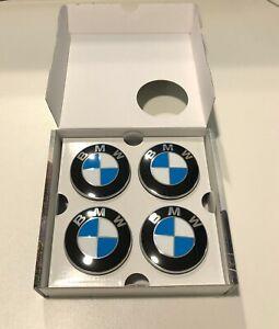 BMW-Genuine-Floating-Self-Leveling-Wheel-Centre-Hub-Cap-Badges-Set-65MM-2455269