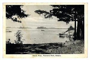 1938-Ottawa-River-Petawawa-Point-Ontario-Canada-Postmark-Postcard