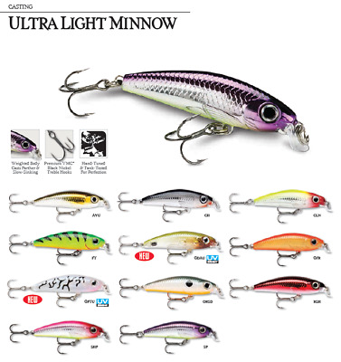 Rapala Ultra Light Minnow ULM-4 4cm//3g Color GFR