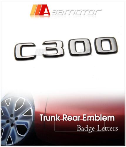 Mercedes Benz W204 C-Class Glossy Black Chrome Trunk Lid Rear Emblem Letter C300