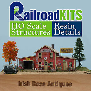 Seckler-039-s-Irish-Rose-Antiques-HO-scale-Craftsman-Structure-Kit-NEW-Railroad-Kits