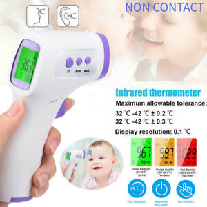 IR Infrared Digital Thermometer Non-Contact Forehead Baby ...