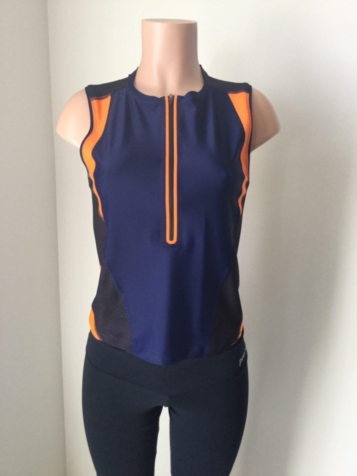 Laain Althea Curve Mesh Tops shirt L  activewear  Women's bluee zippered