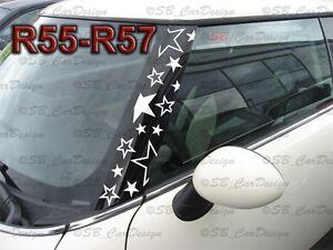 A-pillars-Stars-Sticker-Pillar-Stars-Decal-F-BMW-Mini-Cooper-R56-One-Works