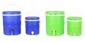 Insulated-Water-Dispenser-Set-of-2-Beverage-Cooler-Box-Thermos-Camping-Caravan