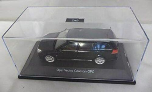 SCHUCO échelle 1:43 concessionnaire Mo OPEL VECTRA Break OPC-noir avec vitrine