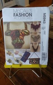 Oop-Mccalls-Fashion-Accessories-5943-beaded-clutch-cuffs-bracelets-necklaces-NEW