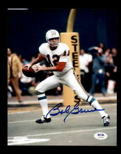 Bob Griese PSA DNA Cert Hand Signed 8x10 Autograph Dolphins Photo