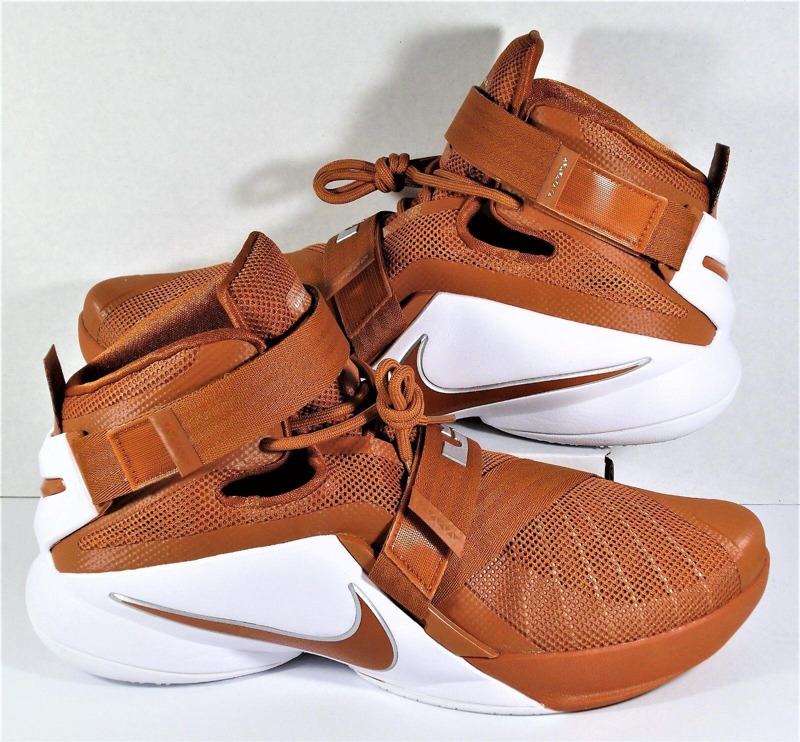 Nike Lebron Soldier IX TB Orange & White Promo Shoes Sz 14 NEW 813264 883 HTF