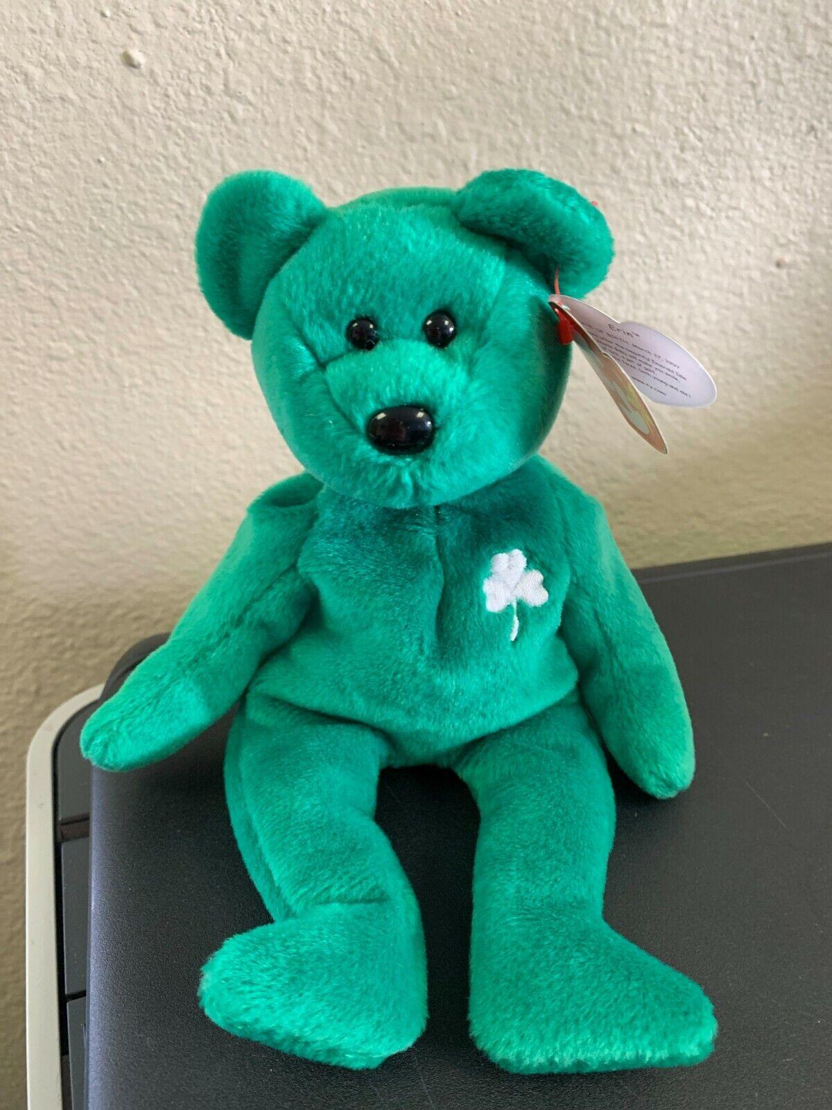 RARE TY Beanie Baby ERIN Bear Bear Bear Original Collectible RETIRED PO15 5TX 874b78