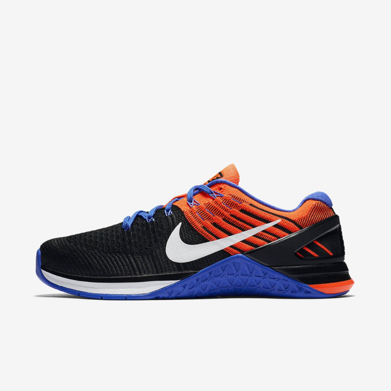 Womens Nike Metcon DSX Flyknit SZ 11 Blue/Orange/Black (849809 002)
