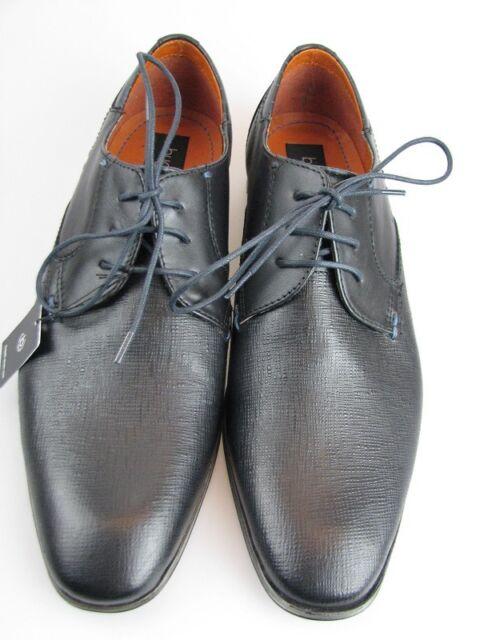 Bugatti Herren Business Schuh Leder schwarz Gr. 42