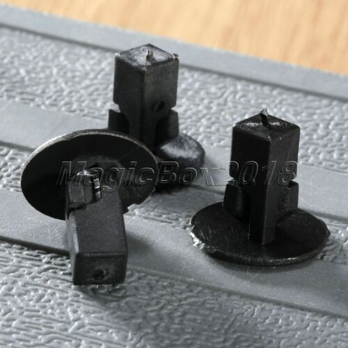 50X Nylon Push Type Rivets Retainer Fastener Clips for Toyota Bumper Fender