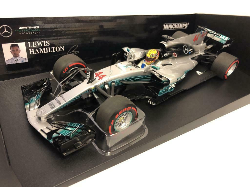 MERCEDES AMG W08 HAMILTON MEXICO GP 2017 1:18 MINICHAMPS WORLD CHAMPION !!